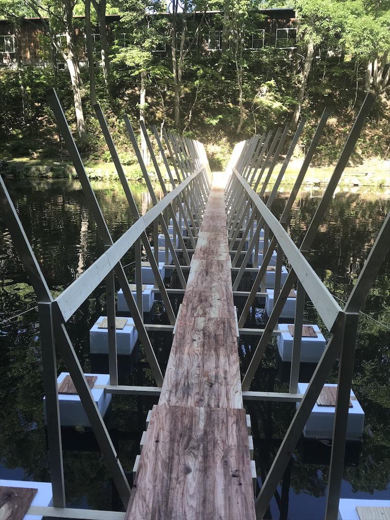 紅櫻アウトドアガーデンの吊橋2