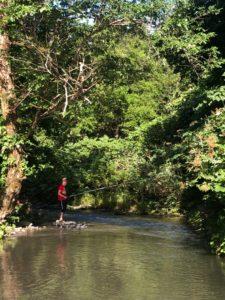 えびGの一番川での渓流釣り