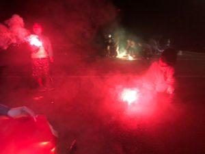 一番川キャンプでの花火