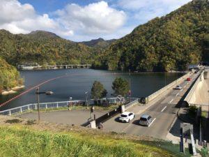 定山渓ダム展望台からの眺め