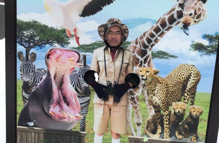 札幌円山動物園顔ハメ看板