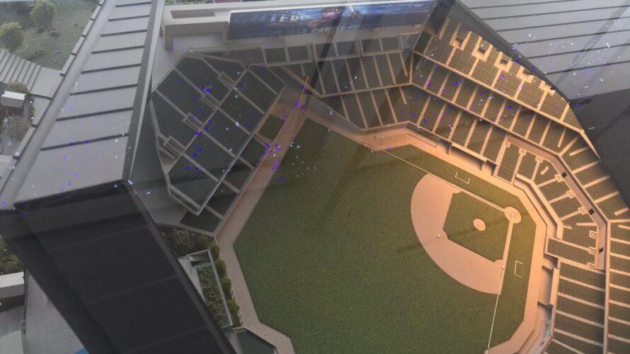 北海道ボールパーク_北広島市役所にある模型