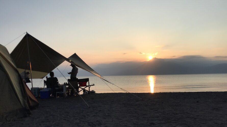 2021年初キャンプにいってみた「支笏湖モラップキャンプ場」にえびG出没!!クワガタも取れたよ