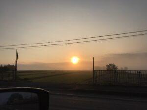 朝焼けの北竜町