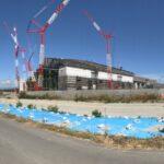 北広島のファイターズ新球場「北海道ボールパーク」の建設工事の様子2021/07/31現在